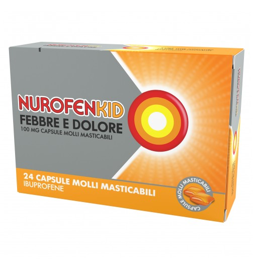 NUROFENKID FEB DOL*24CPS 100MG